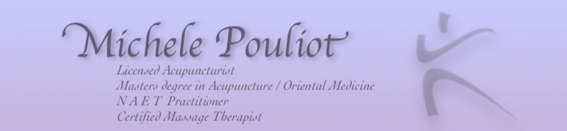 Michele Pouliot Licensed Acupuncturist NAET Practitioner Masters Degree in Acupuncture / Oriental Medicine Certified Massage Therapist